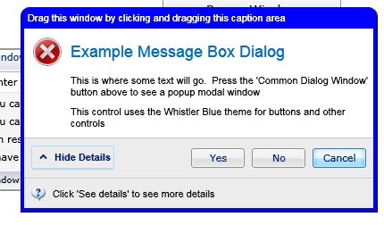 Silverlight message box